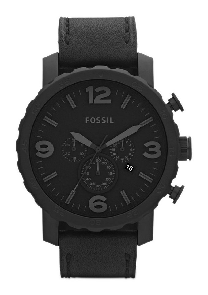 Fossil Chronograph »NATE, JR1354« in schwarz