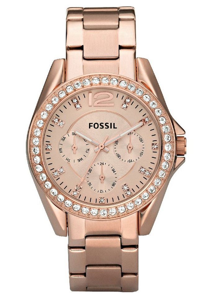 Fossil Multifunktionsuhr »RILEY, ES2811« in roségoldfarben
