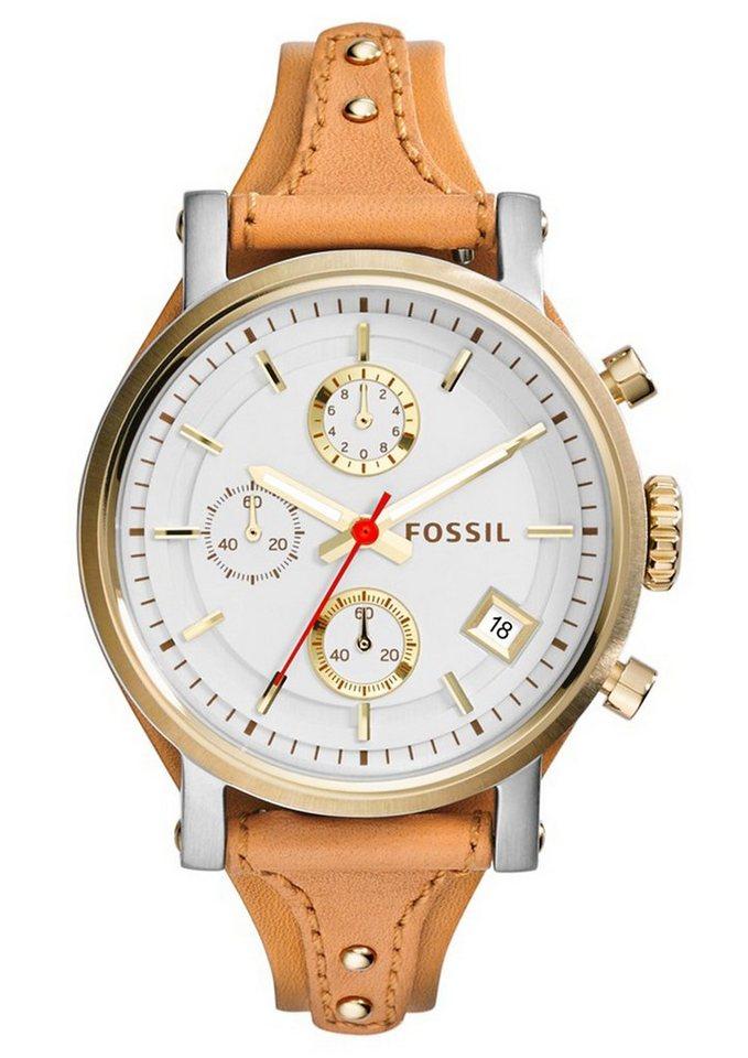 "Fossil, Chronograph, ""ORIGINAL BOYFRIEND, ES3615"" in hellbraun"