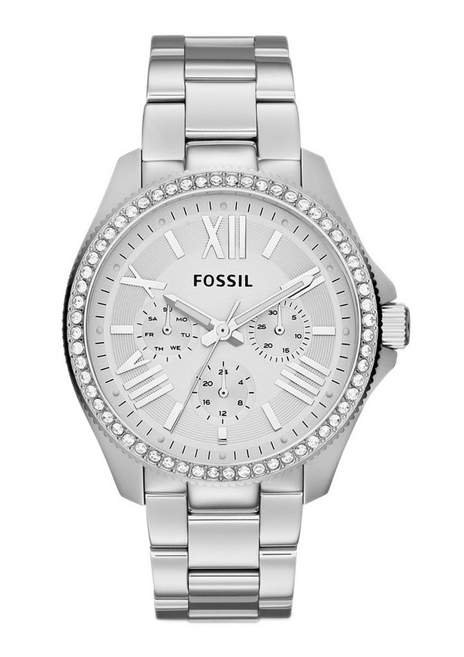 Fossil Multifunktionsuhr »CECILE, AM4481« in silberfarben