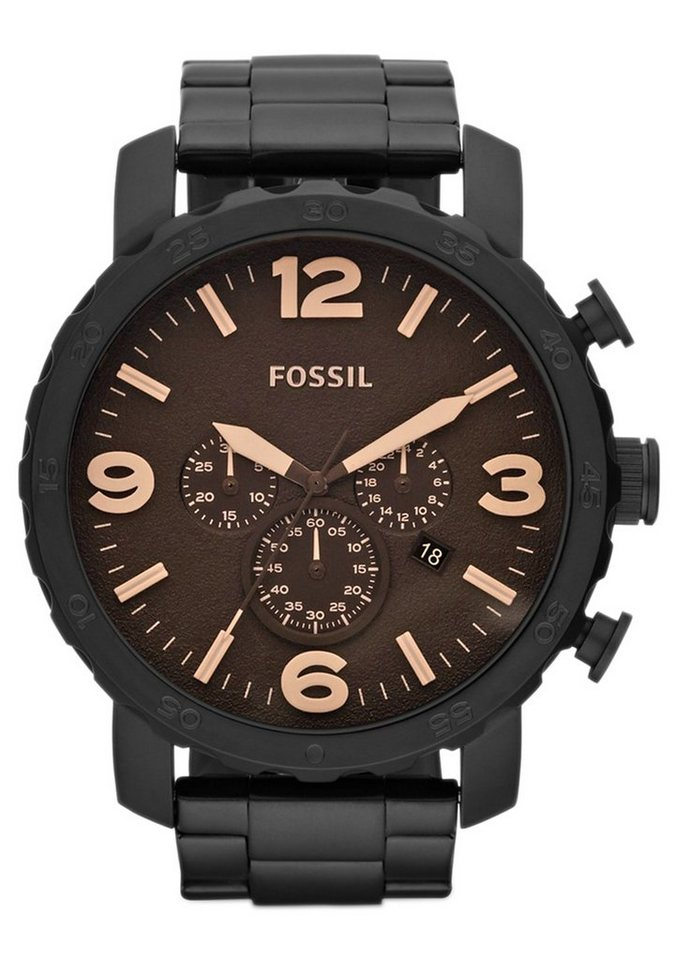 "Fossil, Chronograph, ""NATE, JR1356"" in schwarz"