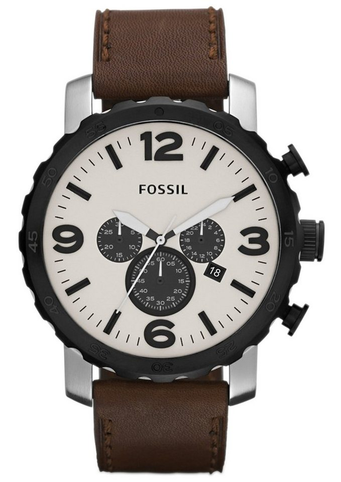 "Fossil, Chronograph, ""NATE, JR1390"" in braun"