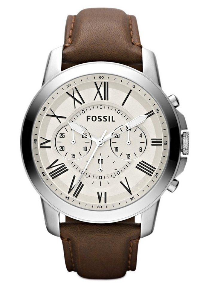 "Fossil, Chronograph, ""GRANT, FS4735"" in braun"