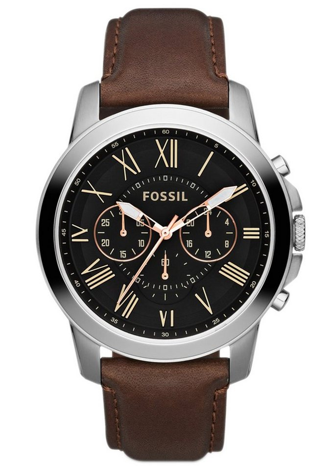"Fossil, Chronograph, ""GRANT, FS4813"" in braun"