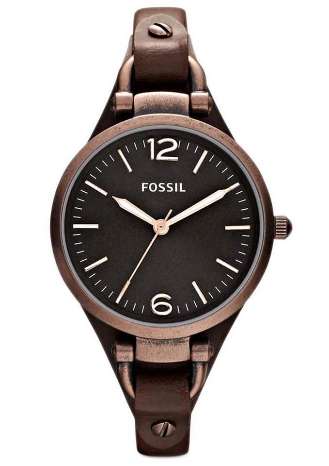 Fossil Quarzuhr »GEORGIA, ES3200« in braun