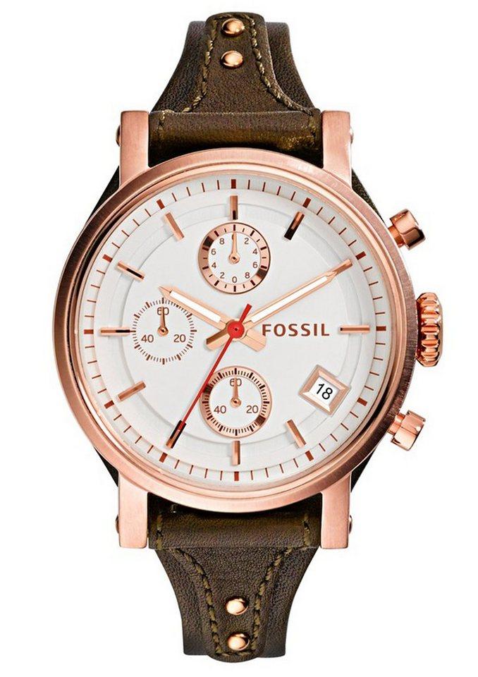 """Fossil, Chronograph, """"ORIGINAL BOYFRIEND, ES3616"""" in dunkelbraun"""