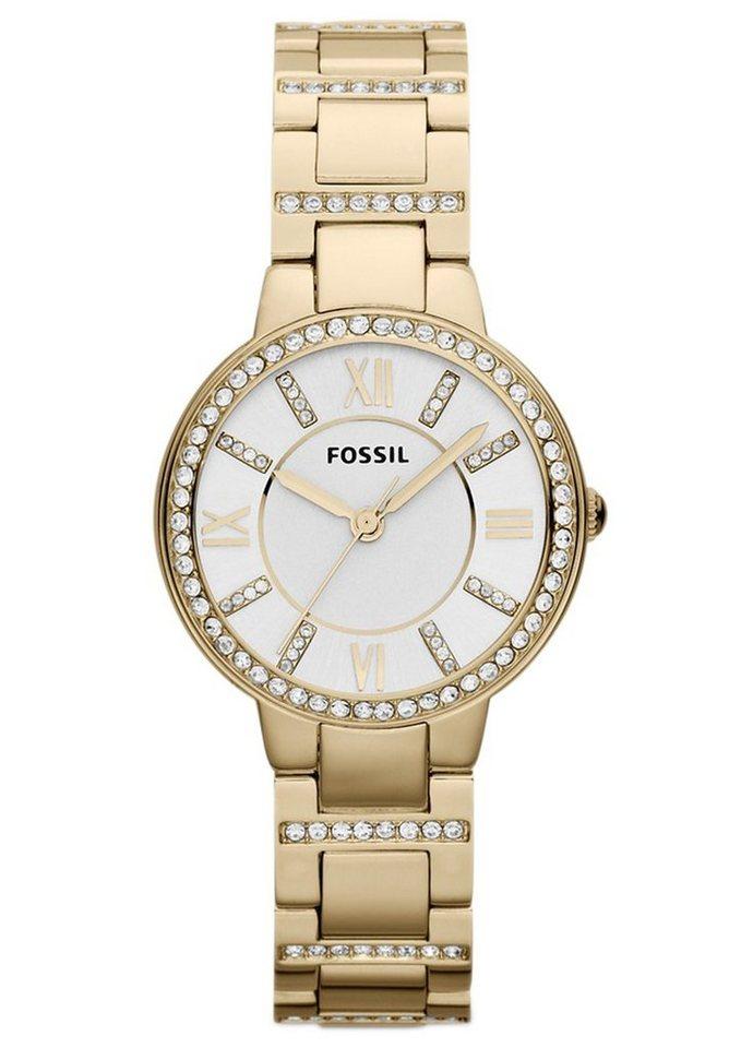 "Fossil, Armbanduhr, ""VIRGINIA, ES3283"" in goldfarben"