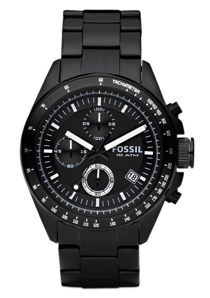 Fossil Chronograph »DECKER, CH2601IE« in schwarz