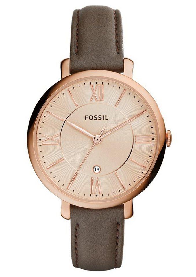 Fossil Quarzuhr »JACQUELINE, ES3707« in braun