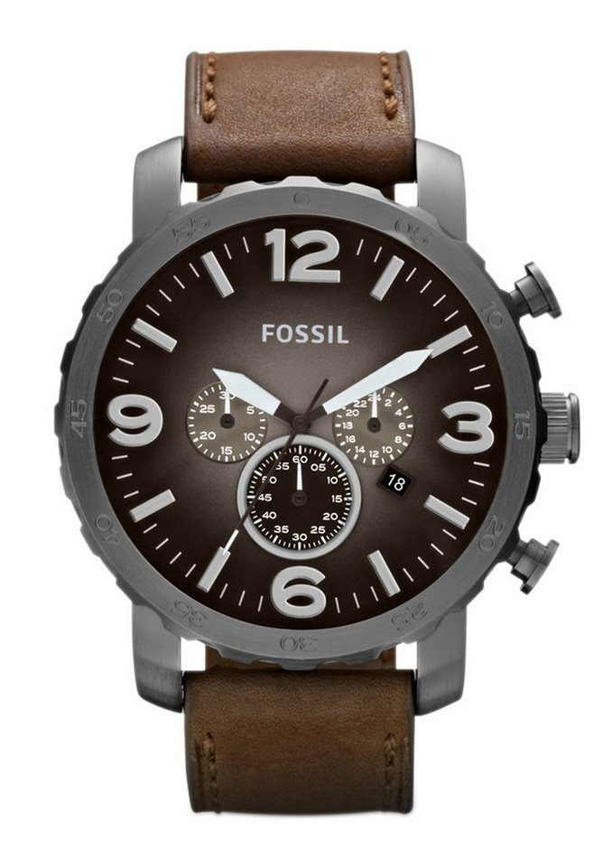 Fossil Chronograph »NATE, JR1424« in braun
