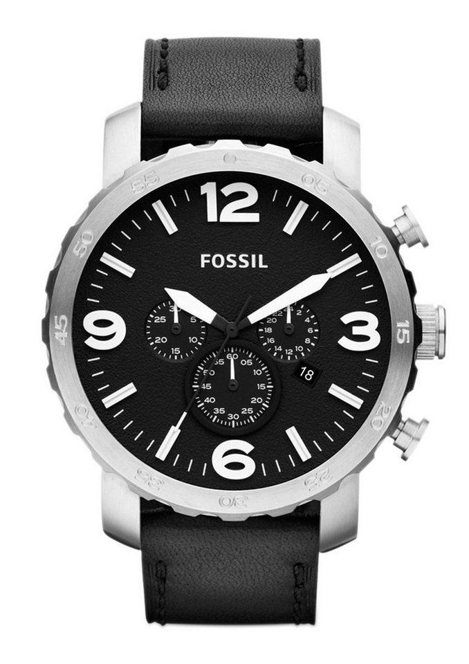 Fossil Chronograph »NATE, JR1436« in schwarz