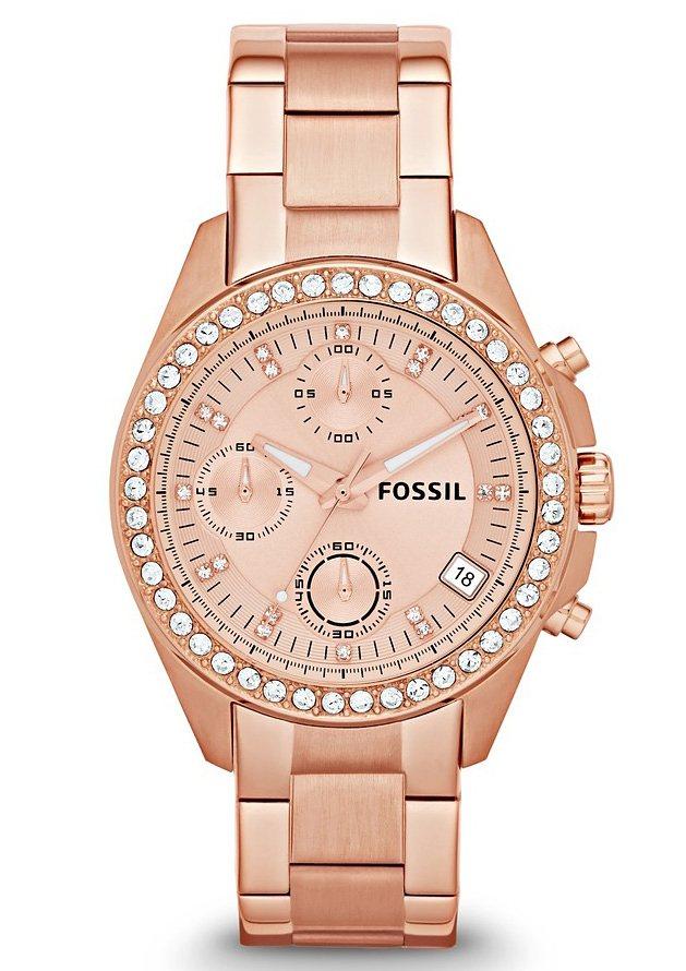 """Fossil, Chronograph, """"LADIES DECKER, ES3352"""" in goldfarben"""