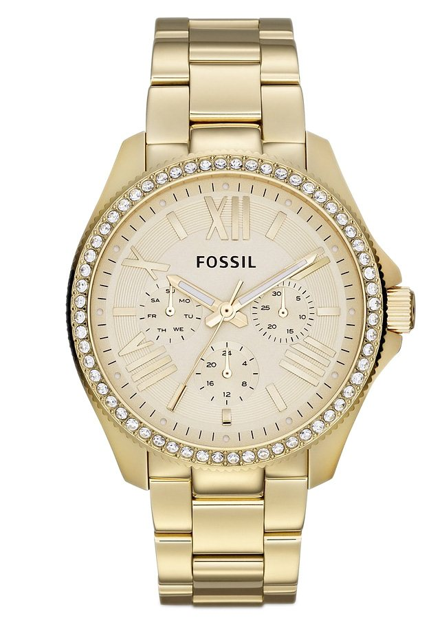 Fossil Multifunktionsuhr »CECILE, AM4482« in goldfarben