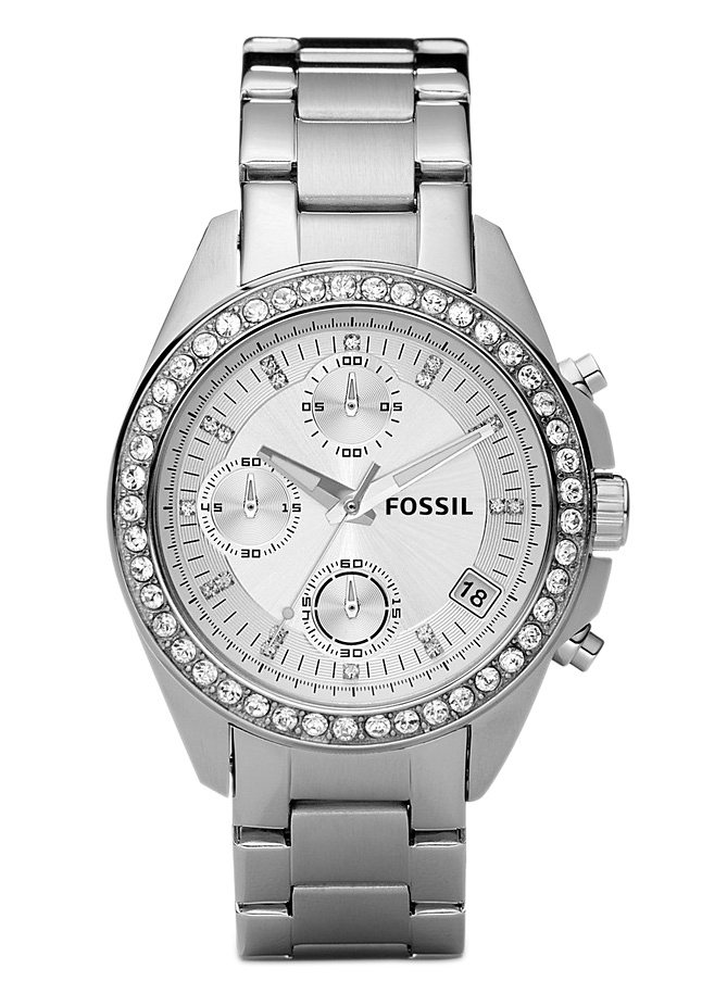 Fossil Chronograph »LADIES DECKER, ES2681« in silberfarben