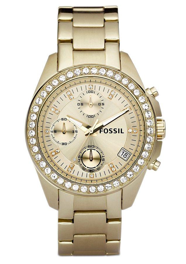 Fossil Chronograph »LADIES DECKER, ES2683« in goldfarben