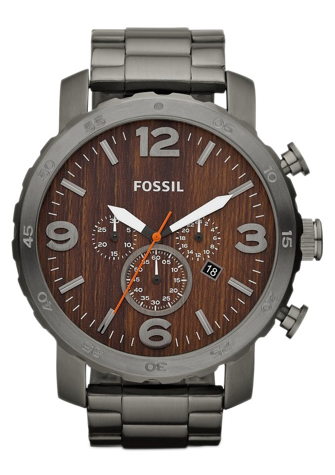 Fossil Chronograph »NATE, JR1355« in grau