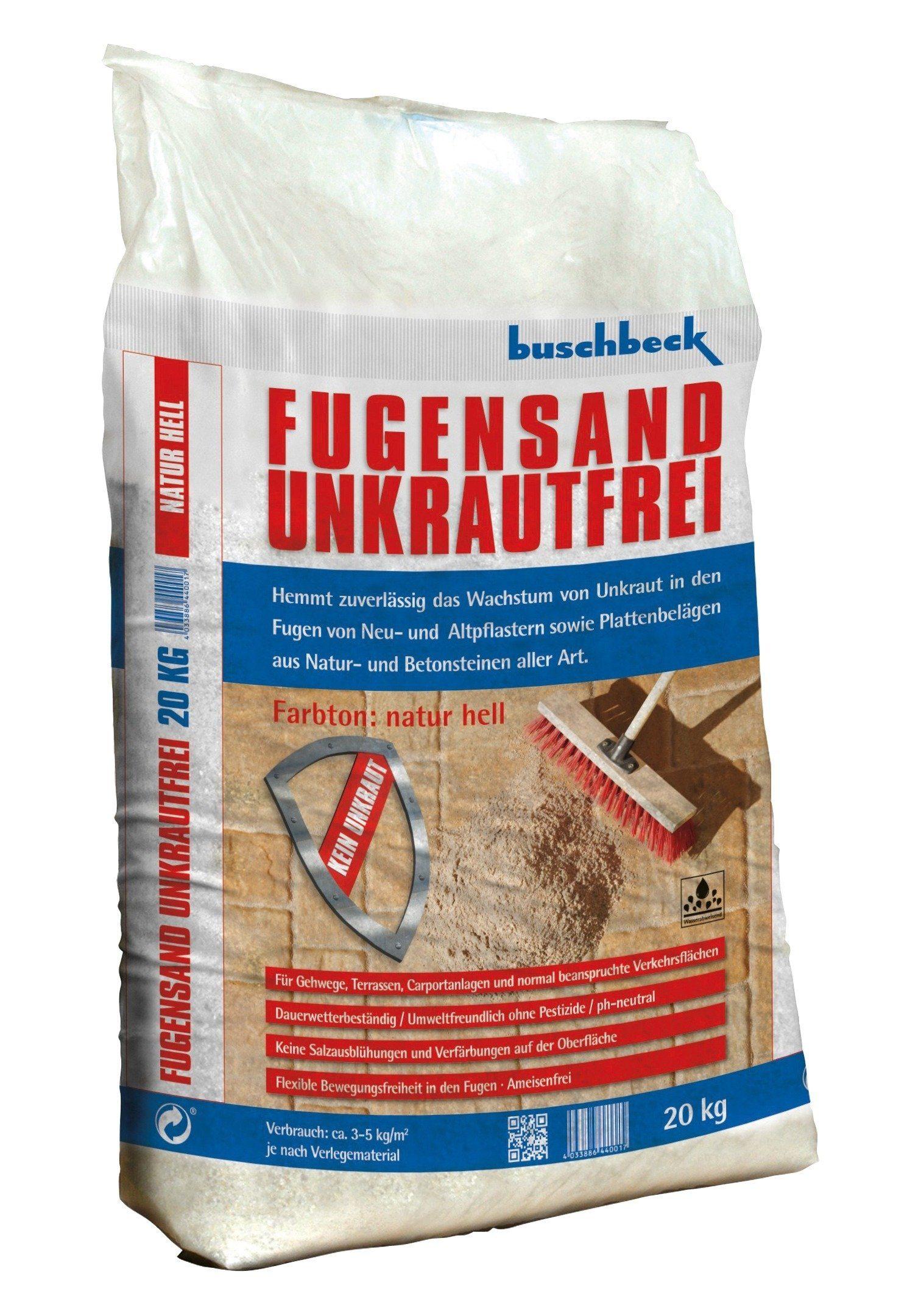 Buschbeck Fugensand Unkrautvernichter, beige