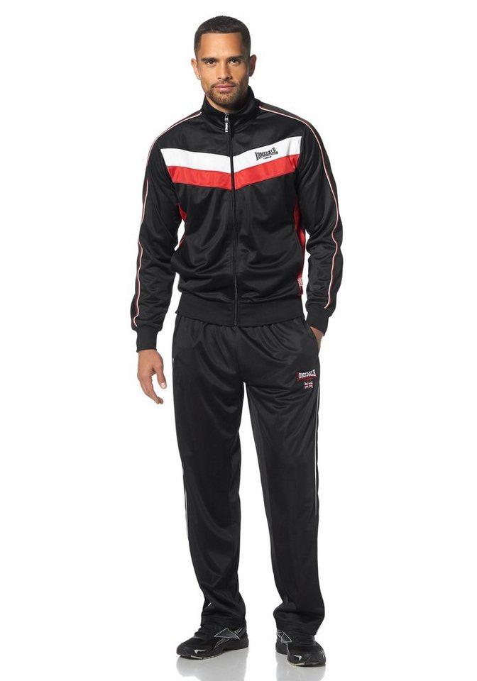 Lonsdale Trainingsanzug in Schwarz-Rot-Weiß