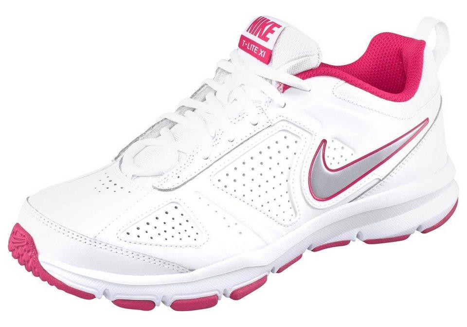 Nike »T-Lite XI Wmns« Walkingschuh in weiß-fuchsia