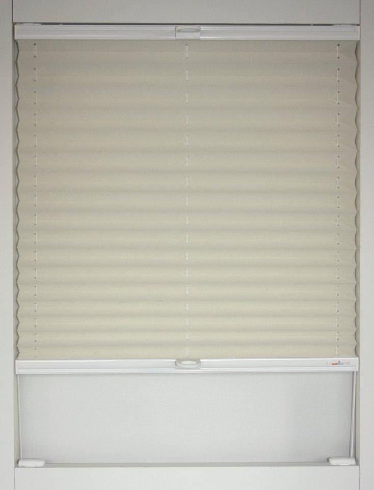 plissee sunlines corato faltenstore wei es profil. Black Bedroom Furniture Sets. Home Design Ideas