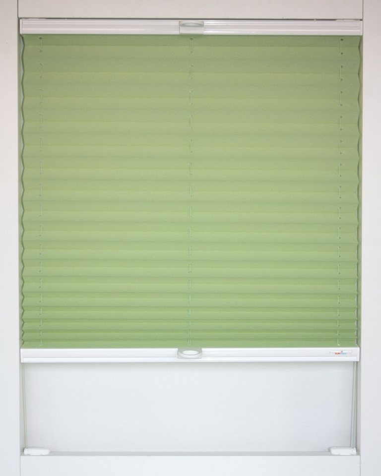 Dachfenster-Plissee, Sunlines, »Medoc«, Faltenstore, Verdunkelung/Energiesparend, Wunschmaß in maigruen