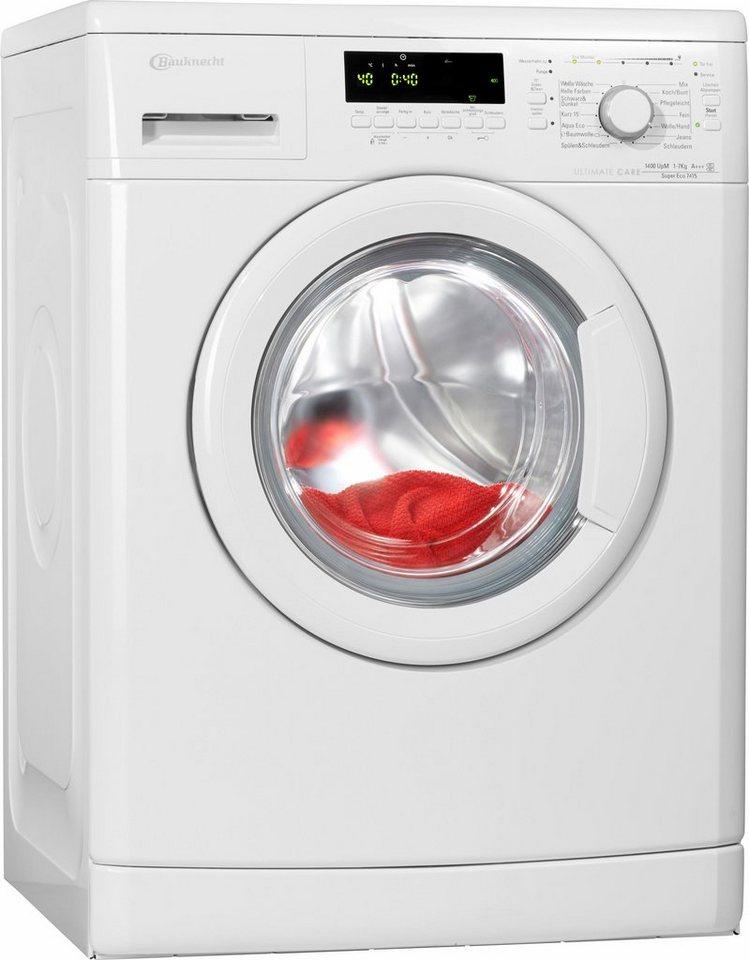 bauknecht waschmaschine super eco 7415 a 7 kg 1400 u. Black Bedroom Furniture Sets. Home Design Ideas