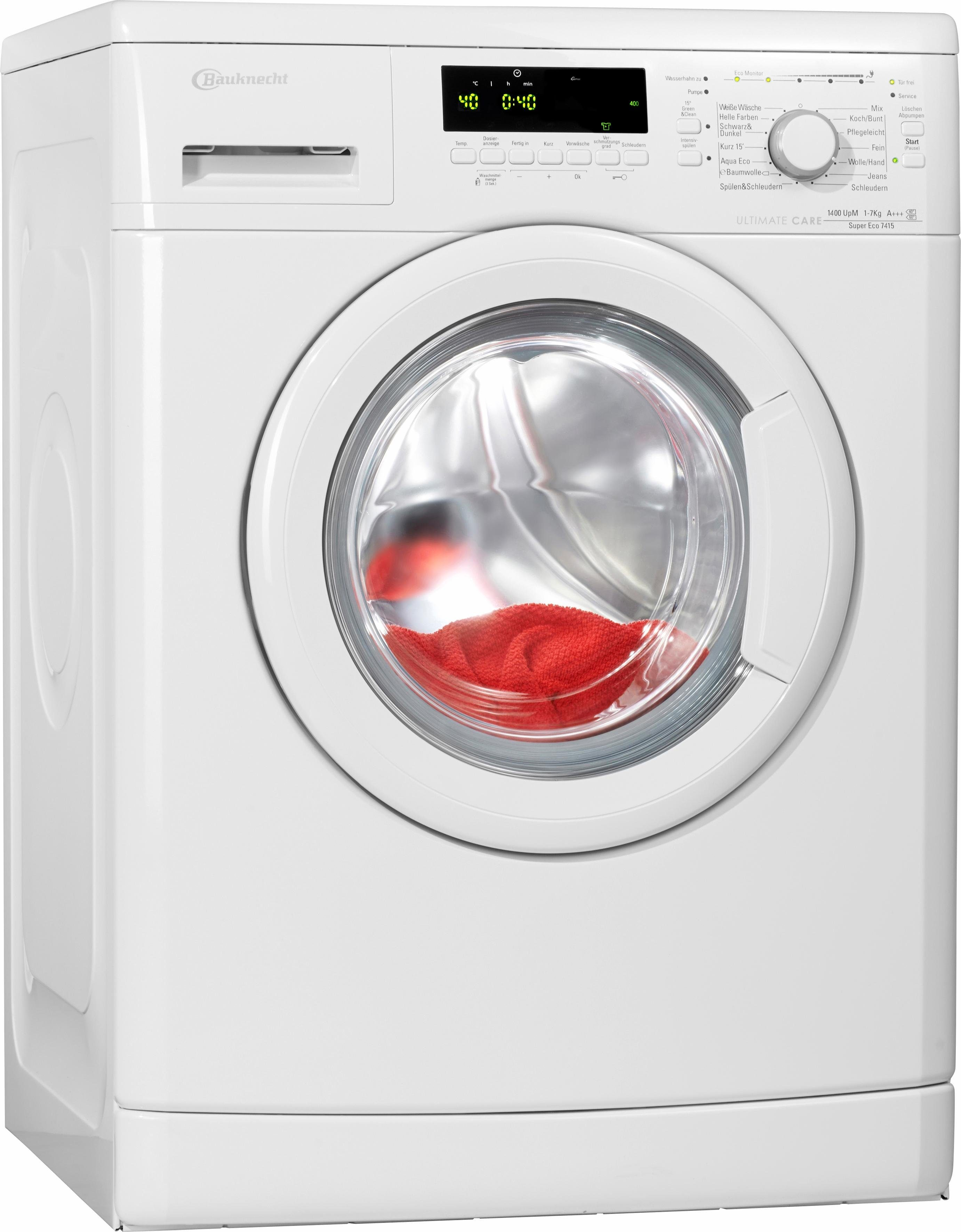 BAUKNECHT Waschmaschine Super Eco 7415, 7 kg, 1400 U/Min