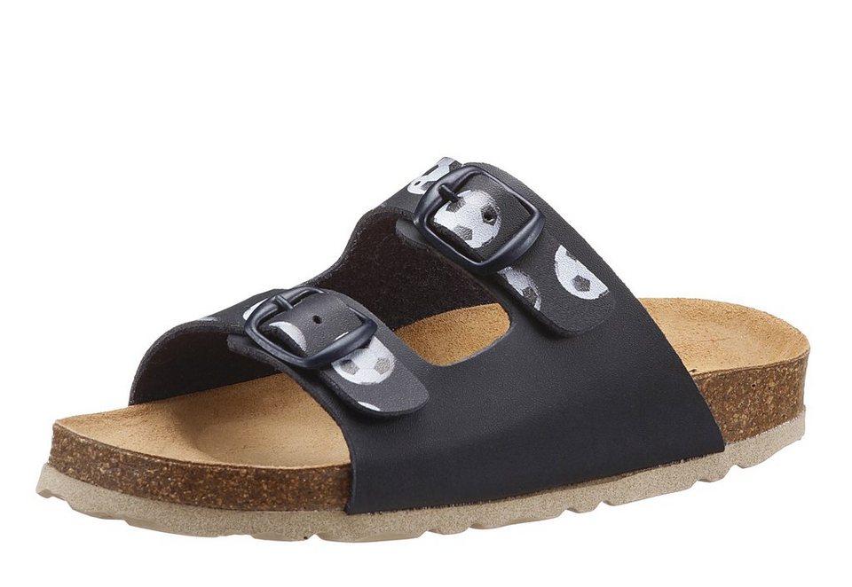 Lico Pantolette mit Kork Naturkautschuk Fußbett in dunkelblau