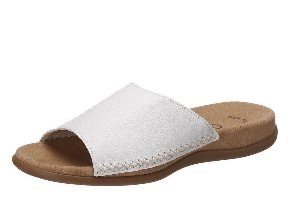Pantolette, Gabor in weiß