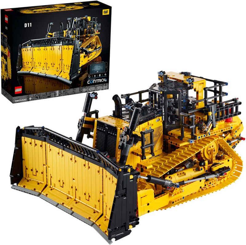 LEGO® Konstruktionsspielsteine »Appgesteuerter Cat® D11 Bulldozer (42131), LEGO® Technic«, (3854 St), Made in Europe