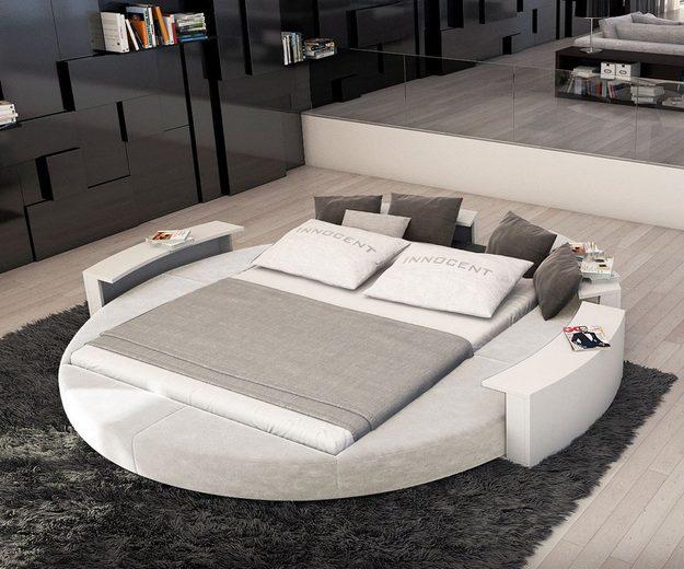 delife polsterbett ailina weiss 180x200 cm rundbett 180 cm online kaufen otto. Black Bedroom Furniture Sets. Home Design Ideas