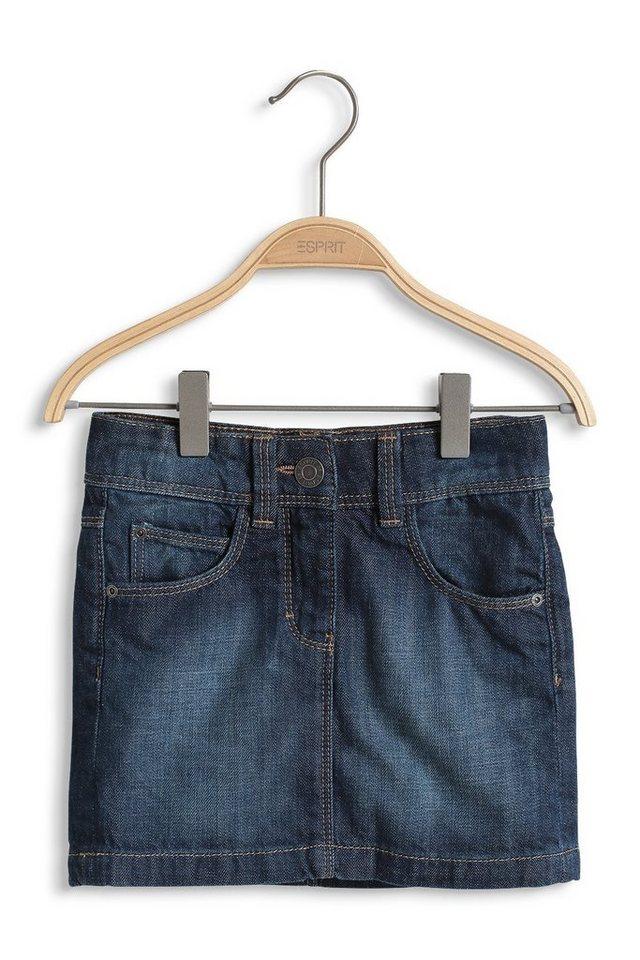 ESPRIT 5-Pocket Jeans-Rock mit Verstellbund in SUPERDARK DENIM