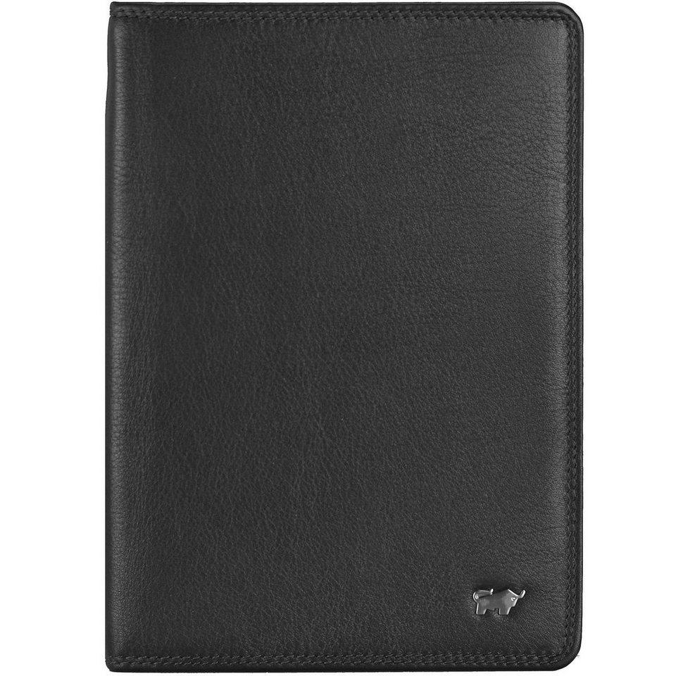 Braun Büffel Golf Brieftasche Leder 12 cm in schwarz
