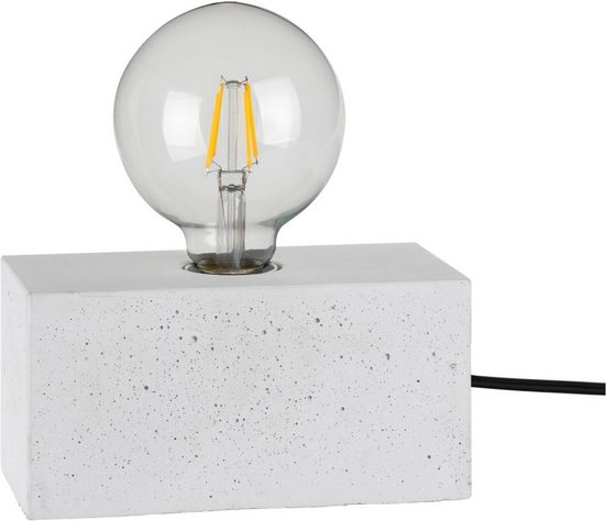 SPOT Light Tischleuchte »STRONG DOUBLE«, Basis aus weißem Beton, Naturprodukt - Nachhaltig, Gut geeignet fuer vintage Leuchtmittel, Made in EU