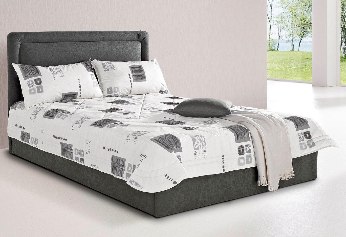 Westfalia Schlafkomfort Polsterbett, wahlweise mit Bettkasten | Schlafzimmer > Betten > Polsterbetten | Grau | Westfalia Schlafkomfort