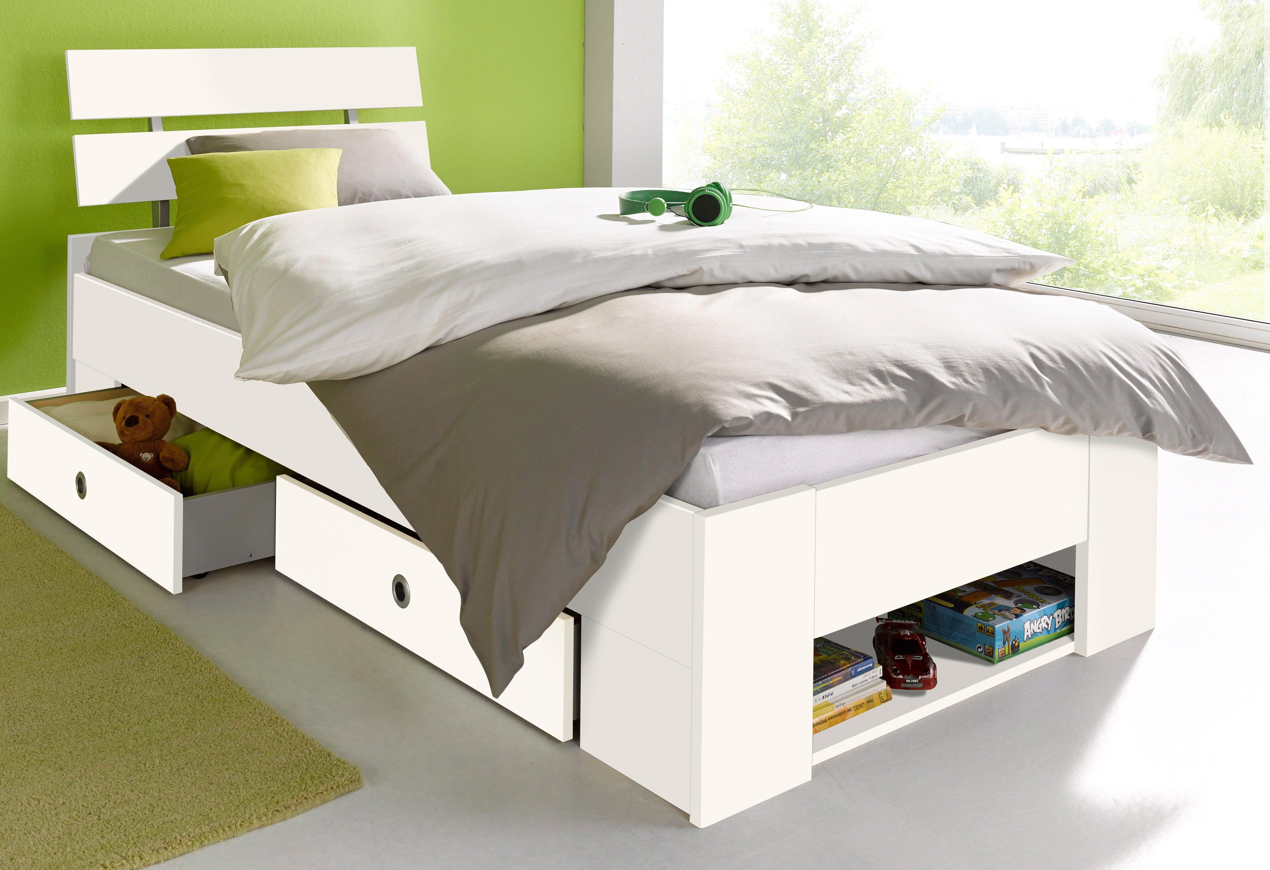 Vipack amco kojenbett mit bettschublade cm weiß