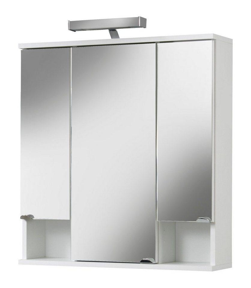 spiegelschrank cadiz breite 67 cm mit led beleuchtung online kaufen otto. Black Bedroom Furniture Sets. Home Design Ideas