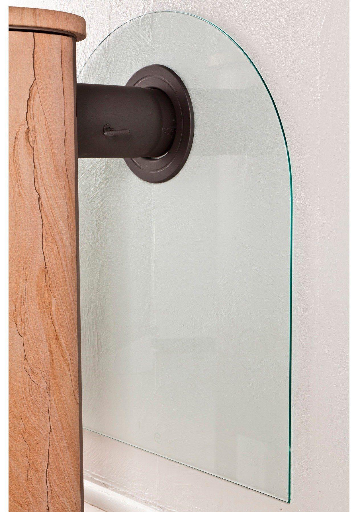 Scandia Glasfunkenschutzplatte für Kaminöfen »Segmentbogen«