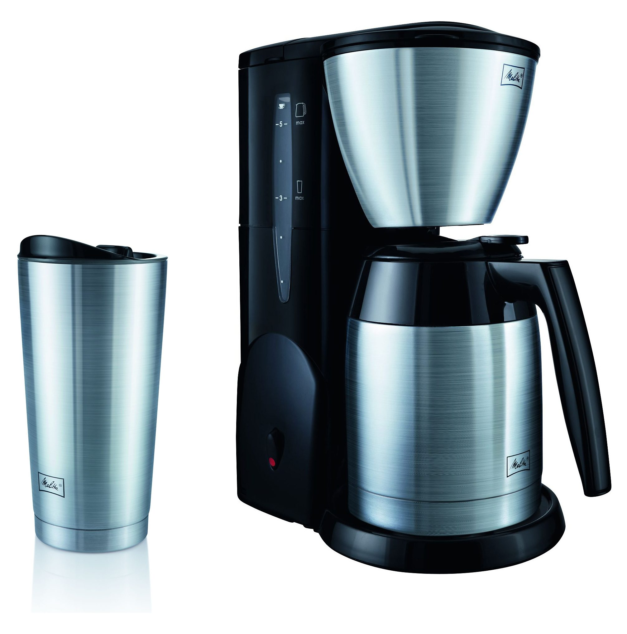 Melitta Filterkaffeemaschine Single5® Therm M728, 0,62l Kaffeekanne, Papierfilter 1x2, mit Edelstahl-Thermobecher