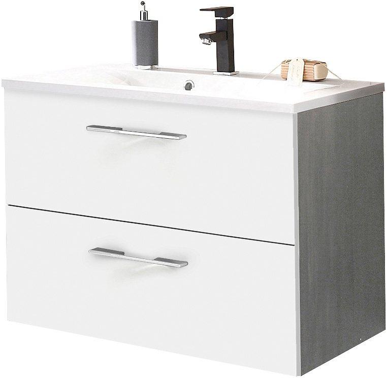 Waschtisch, Kesper , »Balli« in grafit-weiß