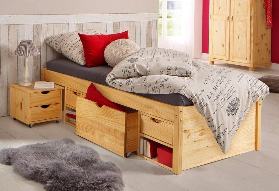 stauraumbett home affaire online kaufen otto. Black Bedroom Furniture Sets. Home Design Ideas