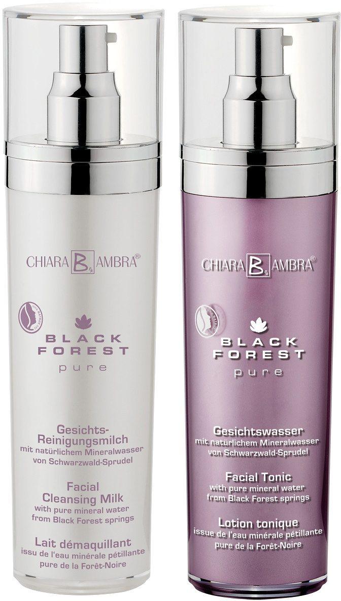Chiara Ambra®, »Black Forest Pure«, veganes Gesichtsreinigungsset (2-tlg.)