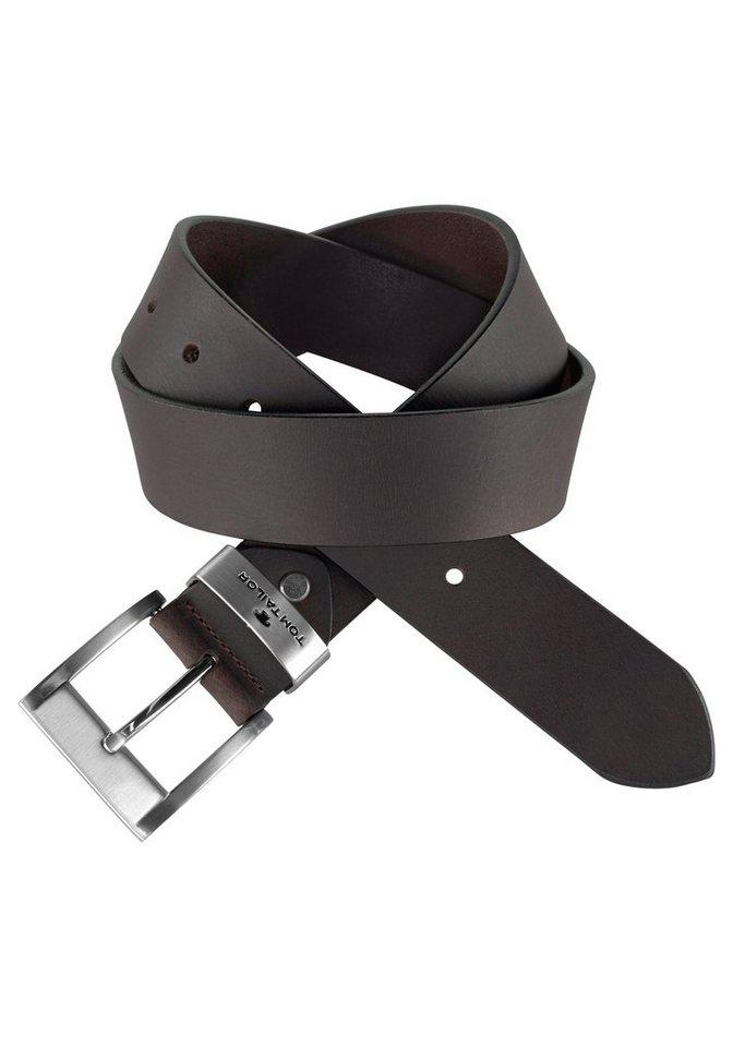 Tom Tailor Ledergürtel, mit leicht glänzender Dornschließe - Preisvergleich