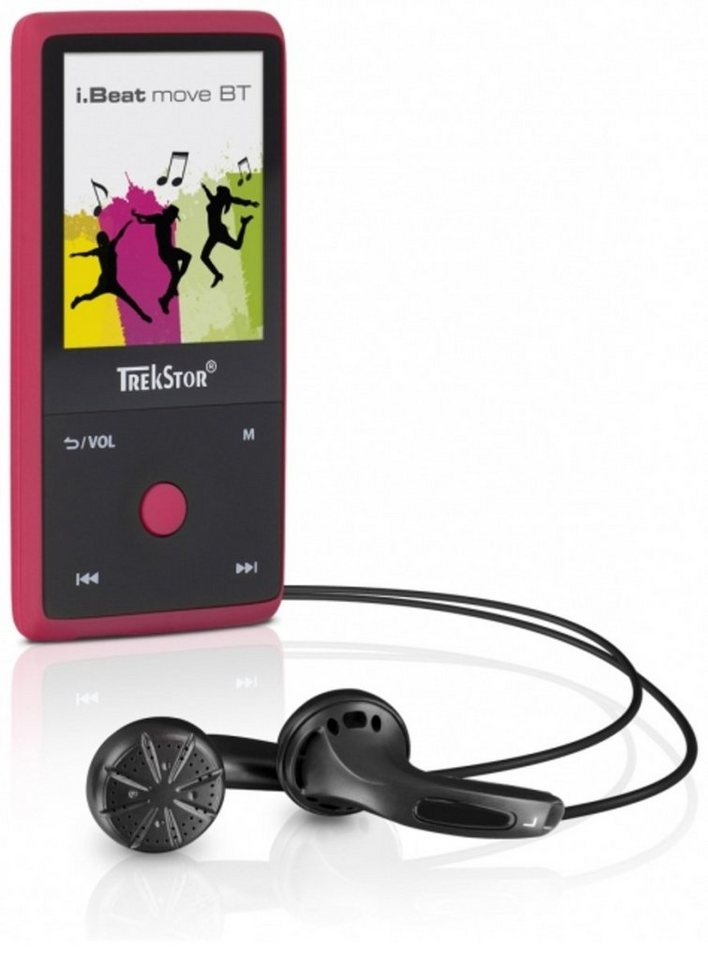 TrekStor MP3-Player »i.Beat move BT 8GB, rubine red« in Rot