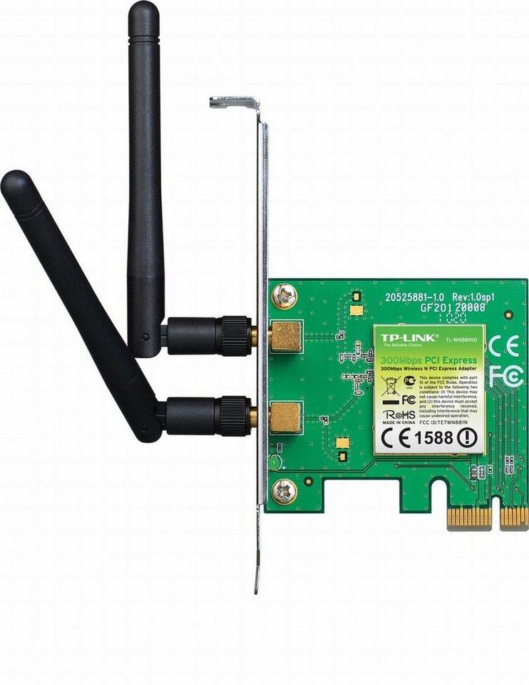 TP-Link WLAN-PCI-Express »TL-WN881ND - 300Mbps WLAN-N« in Grün