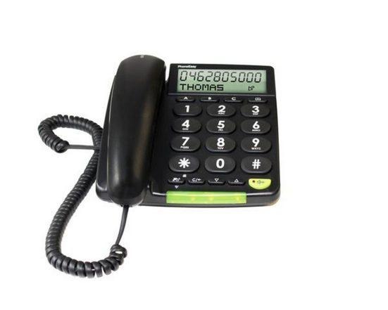 Doro Telefon analog schnurgebunden »PhoneEasy312cs, Schwarz«