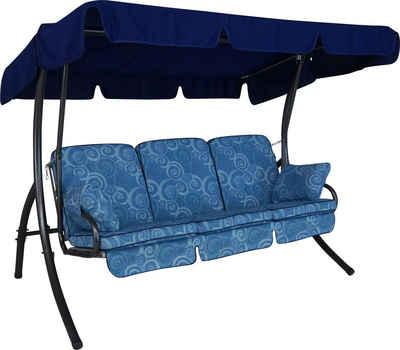 Angerer Freizeitmöbel Hollywoodschaukel »Santorin«, 3-Sitzer, Bettfunktion, inkl. Auflagen und Zierkissen