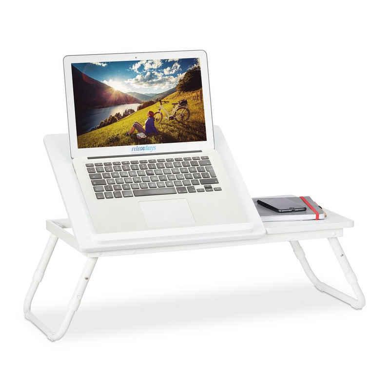 relaxdays Laptoptisch »Laptoptisch höhenverstellbar weiß«