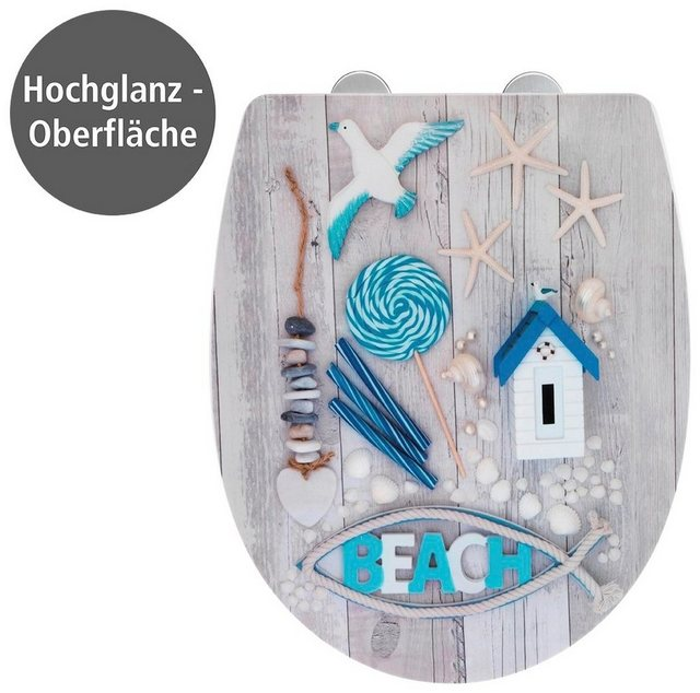 WCs und Zubehör - WENKO WC Sitz »Beach High Gloss« (1 St), Thermoplast  - Onlineshop OTTO