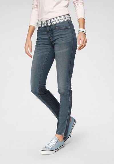 TOM TAILOR Polo Team Slim-fit-Jeans (Set, 2-tlg., mit abnehmbarem Gürtel) mit sportivem Logo-Gürtel